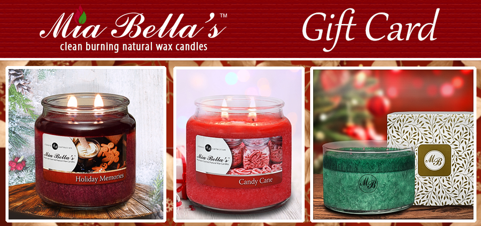 Mia Bella's Gift Cards and Gift Baskets for holiday gift-giving, corporate gifts or personal gifts sent throughout the United States and Canada