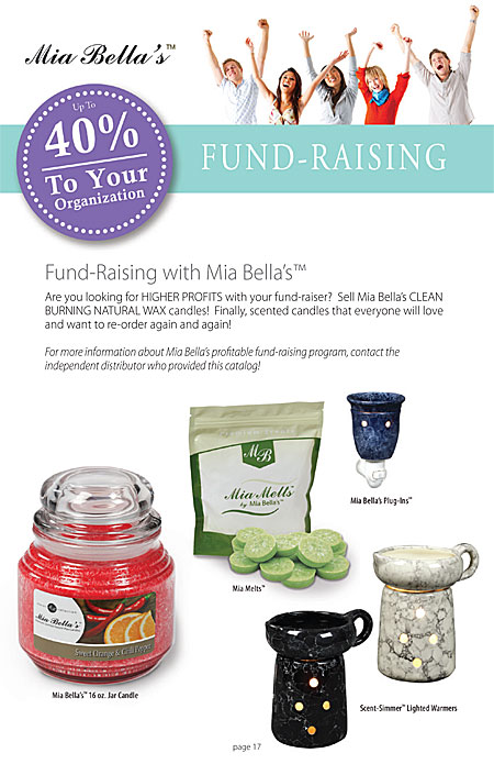 Mia Bella's Custom Fundraising Candles and Custom Gift Candles for schools, businesses and non-profit organizations Catalog Page 17