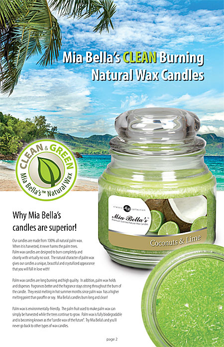 Mia Bella's Clean Burning Natural Wax Candles Page 2