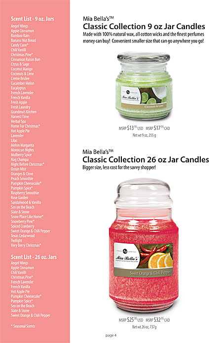 Mia Bella's Classic Collection Jar Candles Page 4