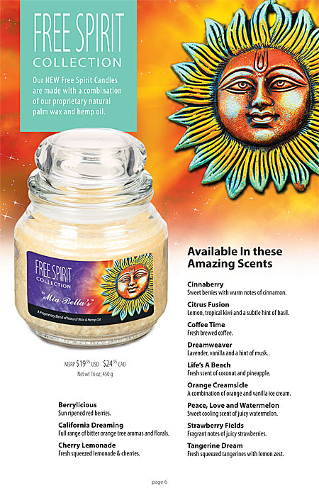 Mia Bella's Retro Designer Jar Candles with Potpourri Catalog Page 6