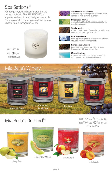 Mia Bella's Signature Coffee Table Candles Catalog Page 8