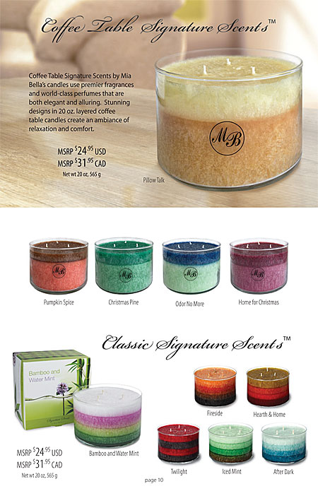 Mia Bella's Flameless Candles Plug-Ins, Scent Simmer Wax Melters and Scent Simmers Catalog Page 10