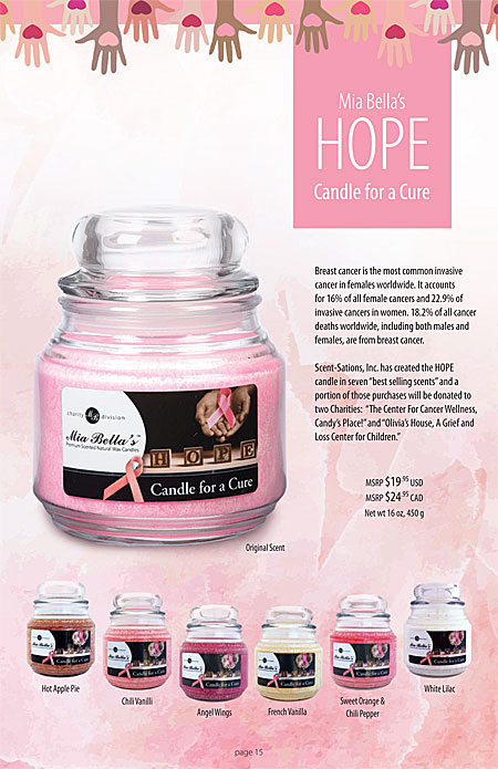 Mia Bella's Odor-No-More, Bugs-No-More, Stress-No-More, Hungry-No-More scented candles Catalog Page 15