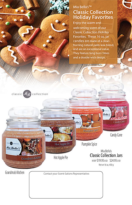 Mia Bella's Limited Edition scented jar candles tropical paradise, caribbean cooler, bahama breeze tropical smoothie Catalog Page 24