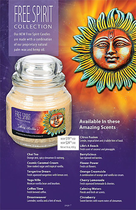 Mia Bella's Spa Sations, Winery and Orchard Jar Candles Catalog Page 7