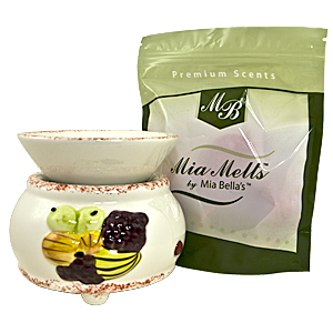 Mia Bella's Weekly Drawing for a Scent Simmer Wax Melter and Mia Melts wax melts