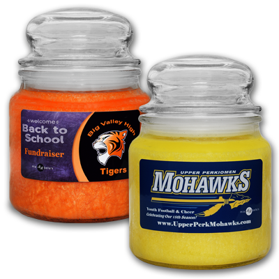 Mia Bellas Custom Fundraising Candles Profit Potential for non-profit organizations